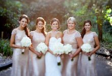 Sequin Bridesmaid Dresses by White Runway