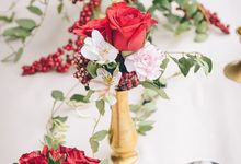 Autumn Rose baby shower  by L&A Event Designs