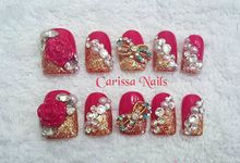 Acrylic Wedding Nails by Carissa Nails