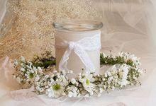 Flower crown made from fresh flowers by La Belle Juliette