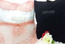 Gorgeous Pink in Large Size Pillow by Fashion Pillow Weds
