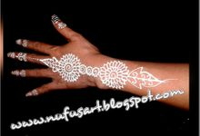 White Henna Body Paint by Nufus Art