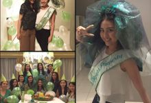 Light Up Green Veil & Sash by Woohoo Party Supplies