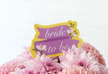 Brown Line Character Bridal Shower by Voilawish Party Designer