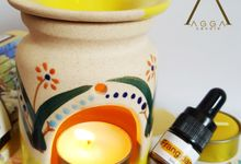Yellow Theme Oil Burner by AGGA candle