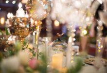 Ballroom Greenery Wedding Decoration by Bali Izatta Wedding Planner & Wedding Florist Decorator