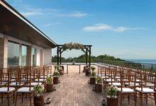 Wedding and reception celebration at Uluwatu Deck by Renaissance Bali Uluwatu Resort & Spa