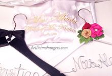 Satin Kimono Robes by Béllicimo Personalized Hanger & Favors