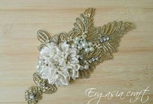 Gold Headpiece by Ergasia Craft