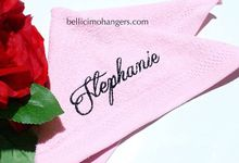 Bridesmaids Essentials - Embroidery Handkerchief by Béllicimo Personalized Hanger & Favors