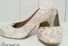 Bride shoes for Ms Luki Maryorie by Merveille Shoes