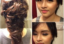 makeup and hairdo for wedding party by Nizia MakeUp Artist