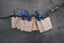 Wooden Wedding Favors by Common Hands