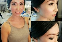 New Client this month by Cindy Lin Make Up Artist