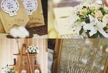 Coffee & cotton theme wedding by Pepper Suite Events