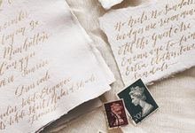 Private Wedding Invitation by Veronica Halim Calligraphy