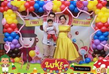 Luke 1st Birthday Party Photobooth by Little Panda Photobooth