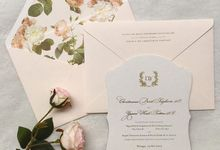 Classic enchanted rose garden by Pensée invitation & stationery