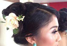 hair do and make up by inna bali wedding
