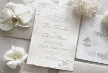 White Rustic Invitation by Pensée invitation & stationery