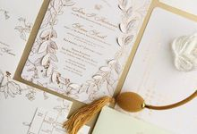 Gold Leaf enchanted forest by Pensée invitation & stationery