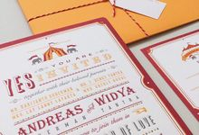 vintage circus carnival invitation by Pensée invitation & stationery