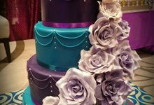 Purple & Teal Motif by M Cakes Studio