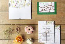 RATU & IAN WEDDING INVITATION by Paperstory