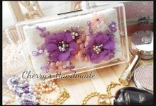 Personalized Clear Clutch & Flowery Lacey Pouch by Cherry's  Handmade