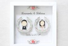 Rustic Wedding Pop Up Frame by artbyevelynlim