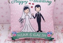 Wedding Favor Pillow by PluieCraft