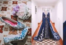 Blue color themed Wedding by SLIGHTshop.com