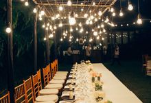 Bridetable combination with bulb by Dekor Indonesia
