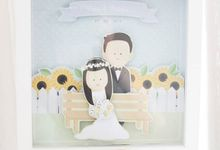 Sunflower Garden Wedding Frame by artbyevelynlim