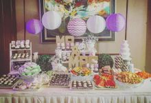 Wedding Dessert Buffet at Bayfront Hotel by Cakes and Memories Bakeshop