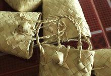 Mini Buri Palm leaf Gift Bags by Miss Marian Native Crafts