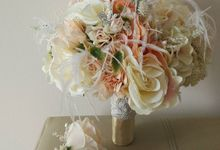 Artificial Bridal Bouquet by Lily Floristry