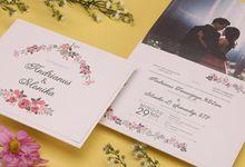 Andrianus & Monika's Wedding Invitation by Hiraloka