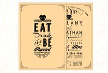 Typography Invitation by Buttercup Decoration