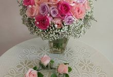 Fresh Flowers -all Import- Bridal Bouquet by Lily Floristry