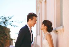 Santorini pre wedding makeup & hairstyle by MOD 21