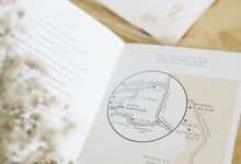 An elegant wedding on an exotic island by Tapestry Invitation