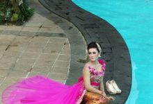 make up wedding for red ice kebaya by Karimafa make up