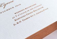 copper edging invitation by Pensée invitation & stationery