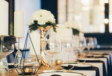 Black & Gold Theme Birthday Dinner by Clea's Project