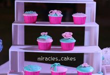 pink-mint green romantic wedding party by Miracles Cakes