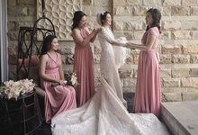 Pink Infinity Dress by dydx Bride