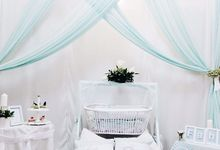Mint-Green Theme Baby Shower by Clea's Project