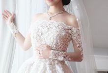 custom fairytale wedding dress by Melta Tan