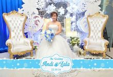Andi and Lala's wedding reception by Indeframe Photo Corner
